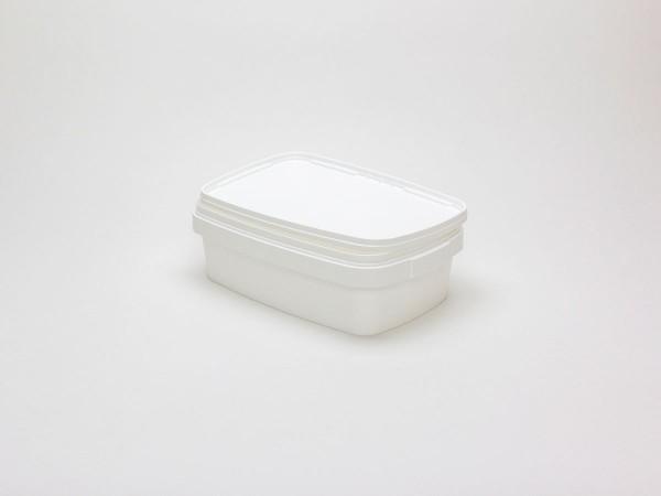 Rechteckiger Kunststoffeimer Weiß